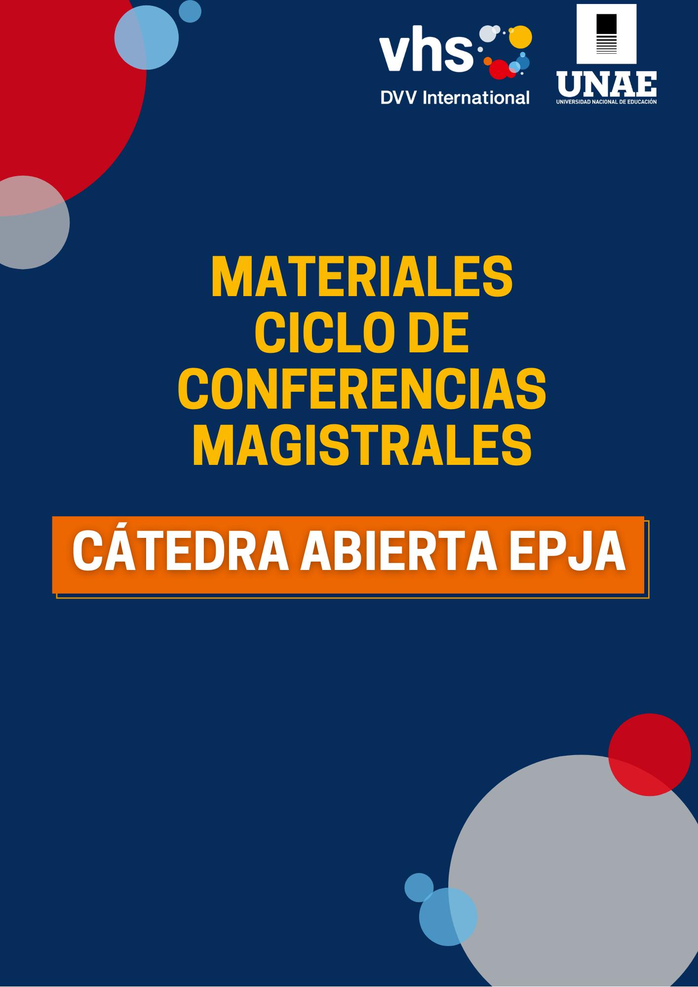 MATERIALES CICLO DE CONFERENCIAS